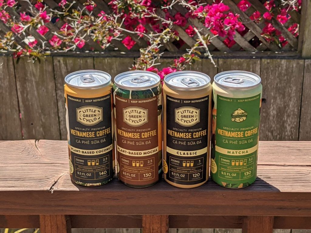 Little Green Cyclo's canned coffees