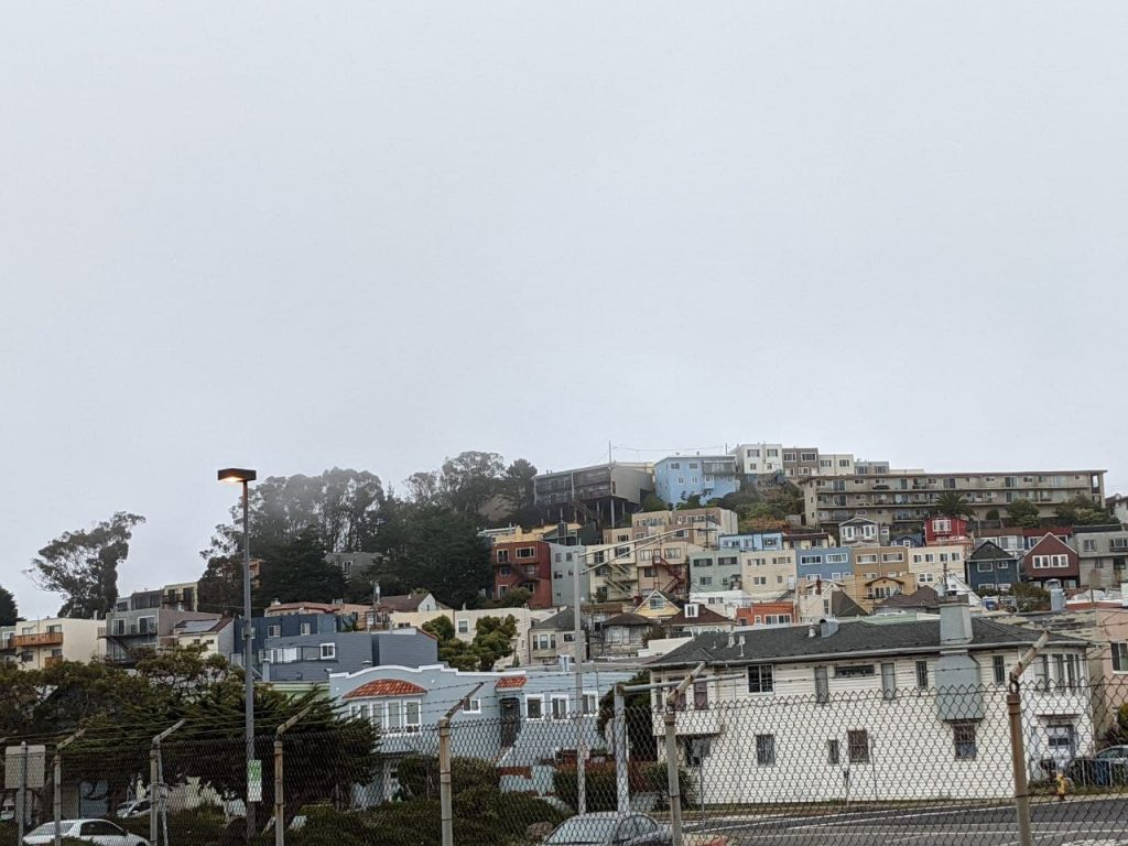 housing as seen from the Daly City BART