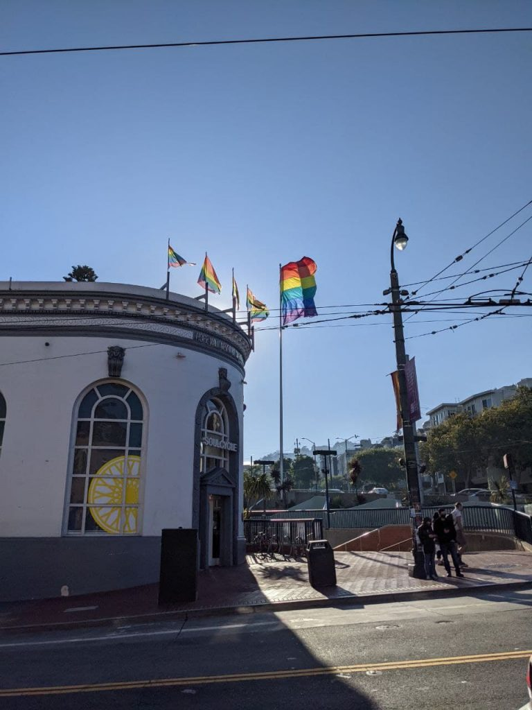 clear sky in the Castro